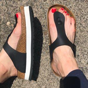 Birkenstock Platform Gizeh Sandal by Papillio